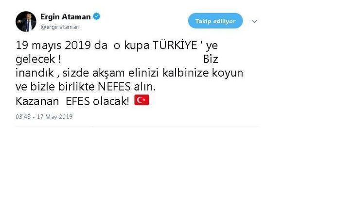 """Ergin Ataman: """"O kupa Türkiye'ye gelecek"""""""