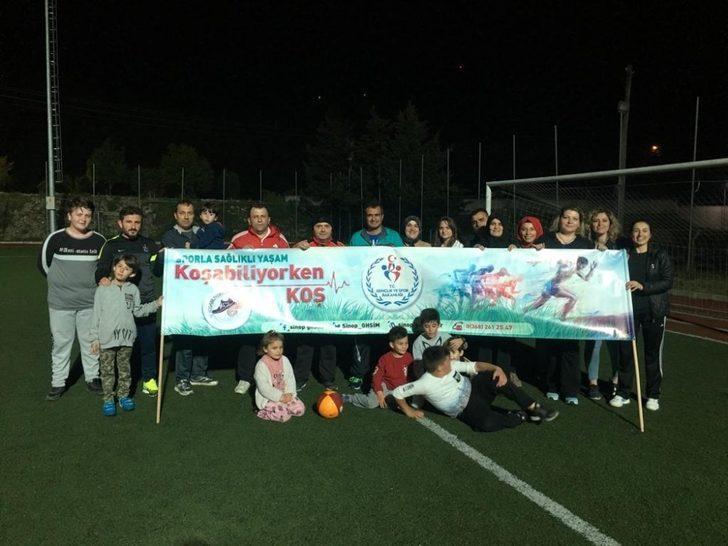 """Türkeli'de """"Koşabiliyorken Koş"""" etkinliği"""