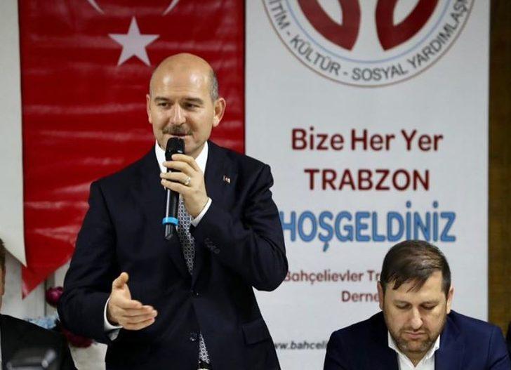 Bakan Soylu, sahurda Trabzonlularla buluştu