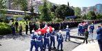Trabzon'da şehit askerler için hüzünlü tören
