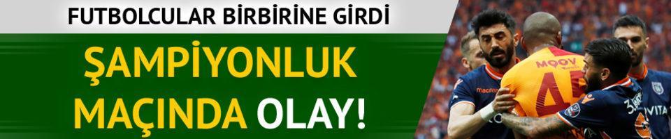 Galatasaray - Başakşehir maçında olay