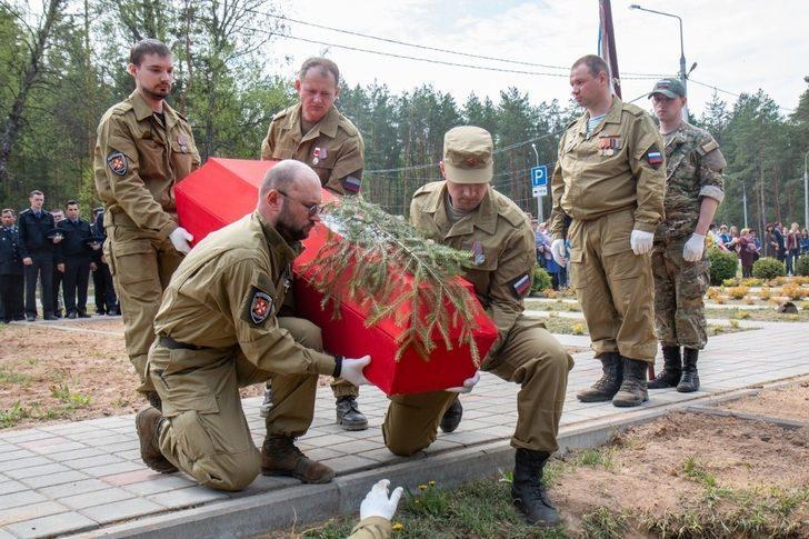Kızıl Ordu askerlerine yarım asır sonra cenaze töreni yapıldı