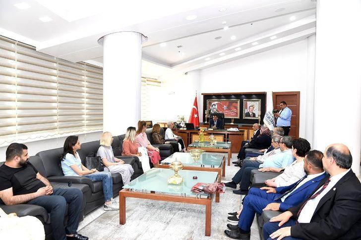 Himyaçder yönetiminden Başkan Gürkan'a ziyaret