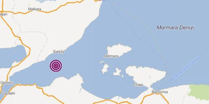 Son dakika Marmara Denizi'nde deprem! İstanbul'da da hissedildi (Son depremler AFAD-Kandilli)