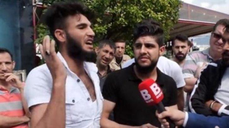 Sokak röportajında 'kafa keseceğim' diyen Suriyeli için harekete geçildi