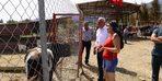 Belediye Başkanı Çakır'dan şiddet gören hayvanların yaşadığı barınağa destek sözü