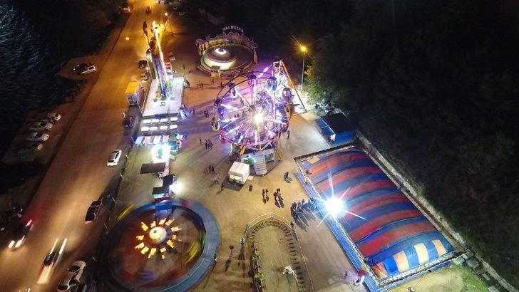 Sinop'ta lunapark açıldı