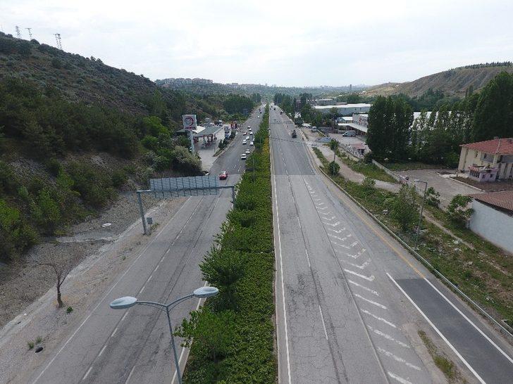 Başkent'te bayram öncesi yollar boş