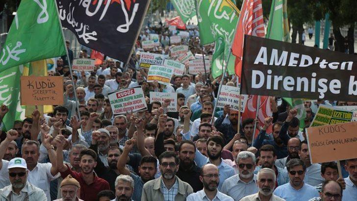 Diyarbakır'da 'Dünya Kudüs Günü'nde Dünyaya Tepki