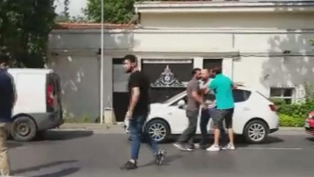 Halit Ergenç'in trafik kavgası kamerada