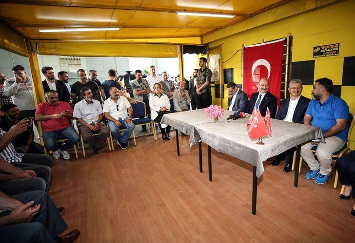İçişleri Bakanı Süleyman Soylu'dan esnaf ziyareti