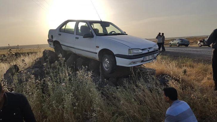 Kaza yapan aracı görenler şaşkına döndü!