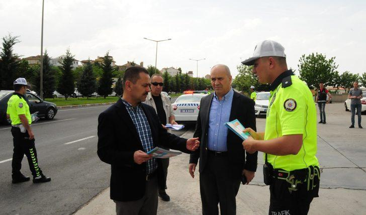 Nevşehir'de 'drone'lu trafik denetimi