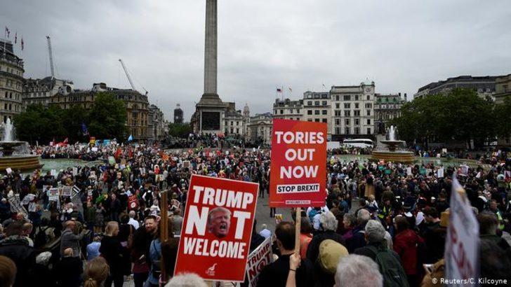 Trump'tan protestolara tepki: Yalan haber