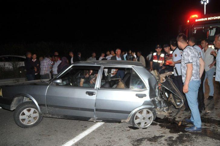 Samsun'da trafik kazası: 1 ölü, 4 yaralı