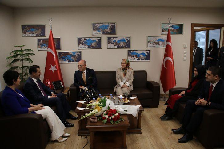 MHP'ye, siyasi parti temsilcilerinden bayram ziyareti
