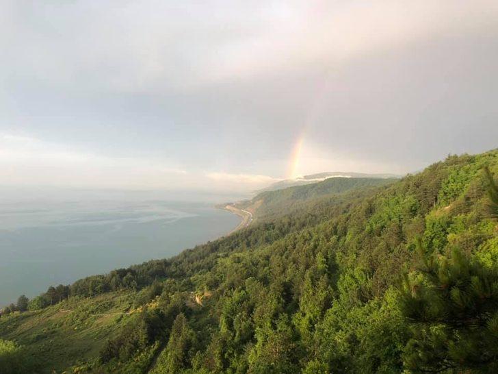 Türkeli'de gökkuşağı güzelliği