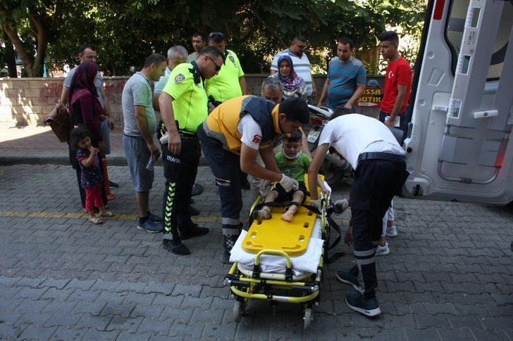 Yaya geçidindeki kazada 5 yaşındaki çocuk yaralandı
