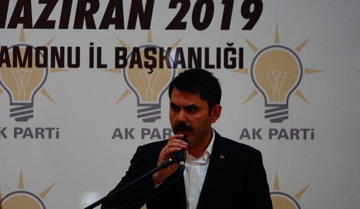 """Bakan Kurum: """"Yapılan haksızlıklara 23 Haziran akşamı milletimiz sandıkta cevap verecektir"""""""