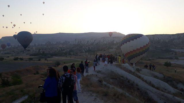 Kapadokya'da bayram yoğunluğu