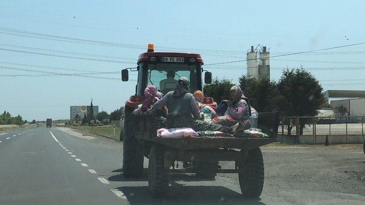 Traktör römorkunda tehlikeli taşımacılık