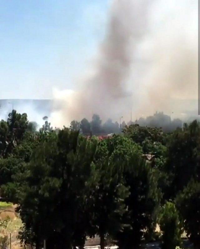 Otluk alanda çıkan yangın trafiği olumsuz etkiledi