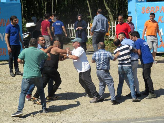 Beykoz'da restoranları yanan iki kardeş arasında kavga