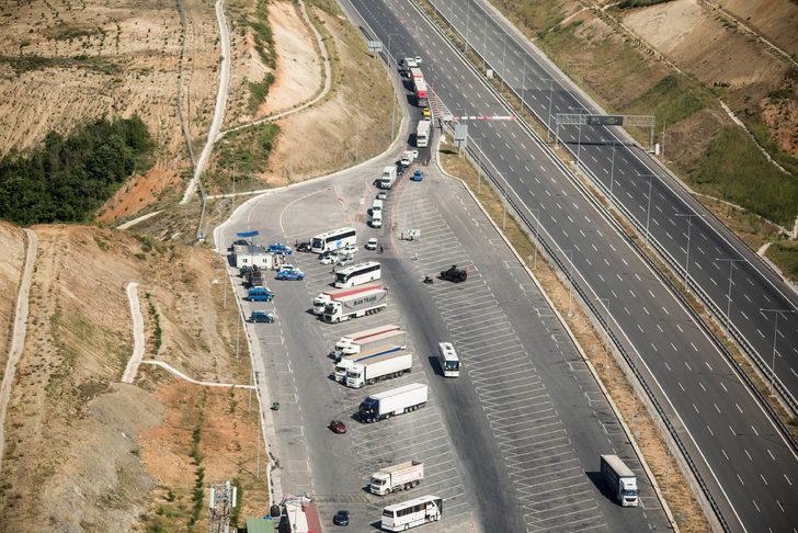 Jandarmadan İstanbul trafiğine havadan denetim