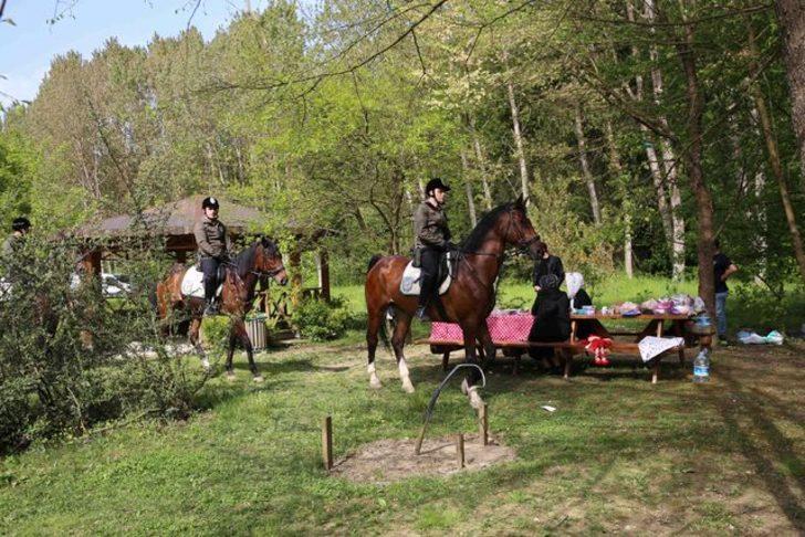 Belgrad Ormanı'na atlı koruma