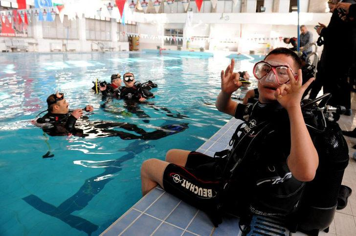 Feyzullah Kıyıklık Engelliler Sarayı, Türkiye'nin ilk engelli dalıcı dalış eğitim merkezi oldu