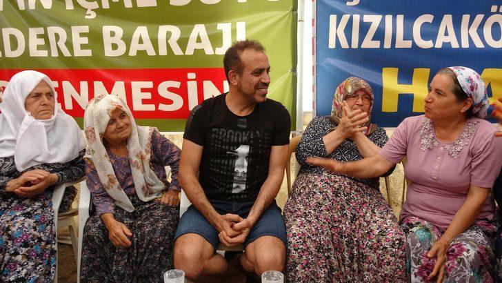 Haluk Levent'ten jeotermale karşıtlarının nöbet çadırına ziyaret