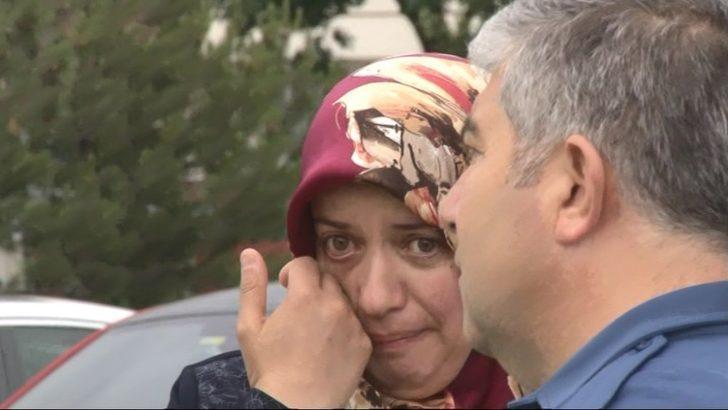 Kaza sonrasında gözyaşlarına boğuldu