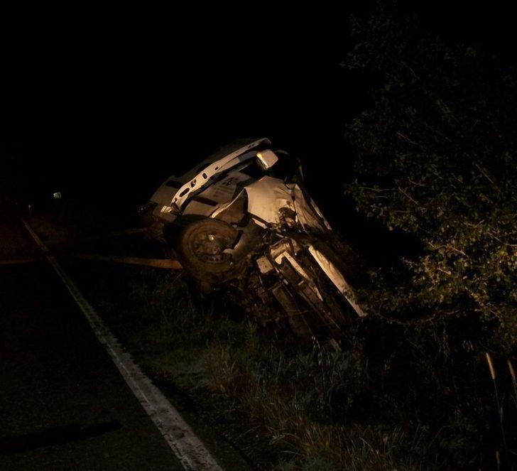 Lastiği patlayan araç takla attı: 1 yaralı