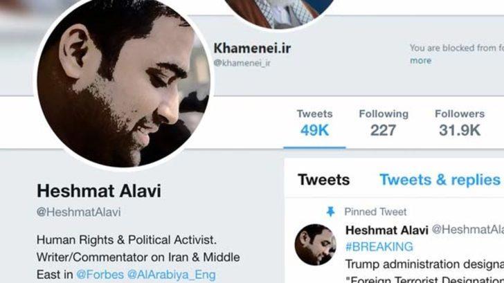 ABD-İran geriliminde flaş iddia! 'Haşmet Alavi' hesabı sahte çıktı