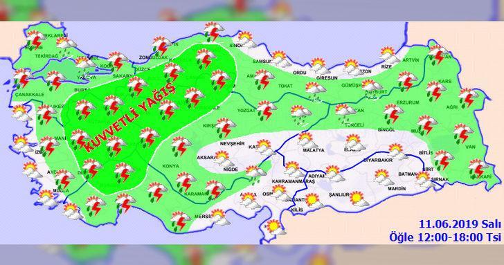 Son dakika! Türkiye'nin büyük bir bölümü için kuvvetli sağanak yağmur uyarısı