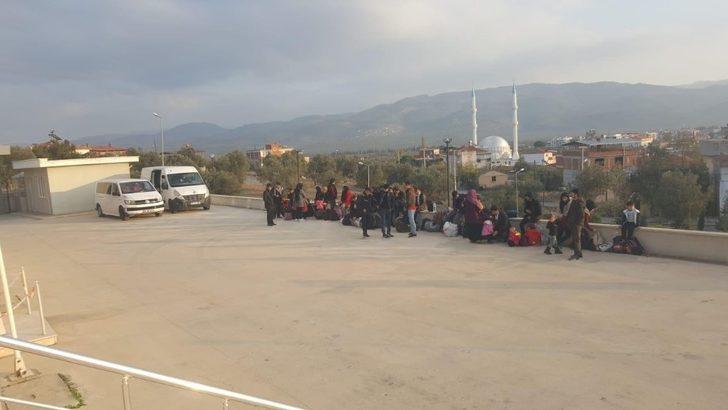 Ayvalık'ta 36 mülteci yakalandı