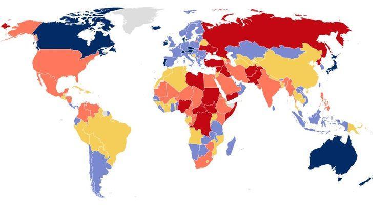 Küresel Barış Endeksi: Türkiye 3 sıra geriledi, 163 ülke arasında 152. sırada