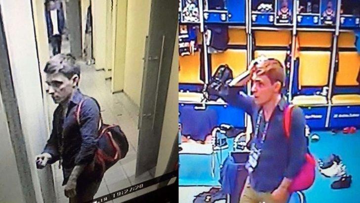 Khimki - CSKA Moskova maçında soyunma odasına giren hırsız oyuncuların eşyalarını çaldı