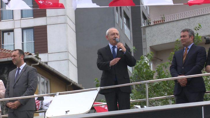 Kılıçdaroğlu Kağıthane'de konuştu