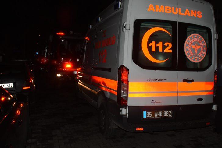 İzmir'de apartman dairesinde yangın