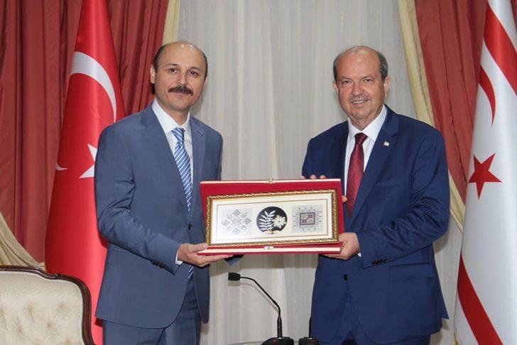Talip Geylan KKTC Başbakanı Ersin Tatar'ı ziyaret etti