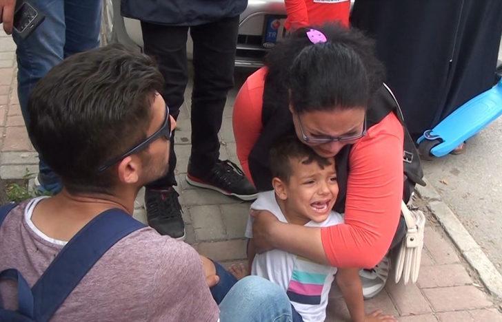 Oğluna posta dağıtım aracı çarpan annenin gözyaşları