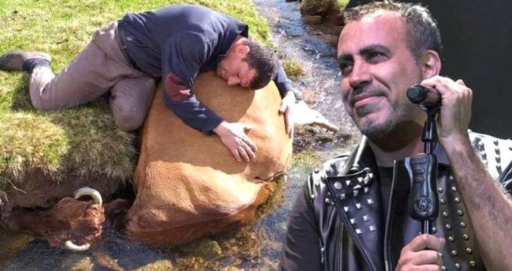 Telef olan ineğine ağlayan çiftçiye Haluk Levent'ten müjdeli haber