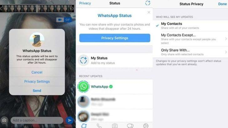 WhatsApp'ın yeni durum özelliği yayınlandı!