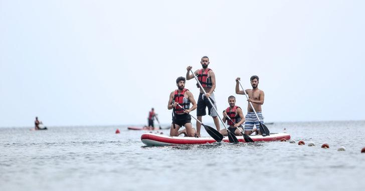 Su sporları kampında can kurtarma eğitimi