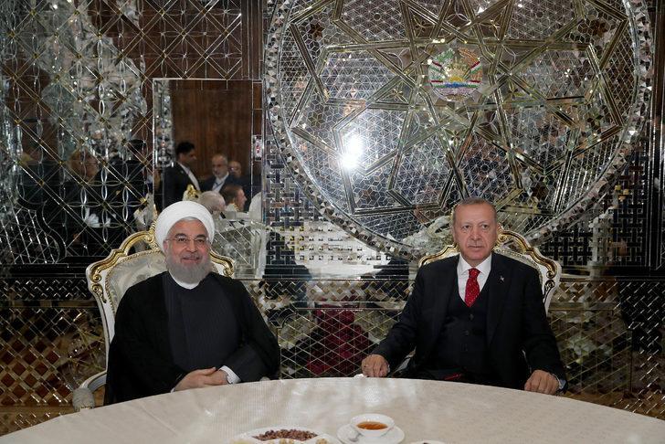 Cumhurbaşkanı Erdoğan, İran Cumhurbaşkanı Hasan Ruhani ile görüştü