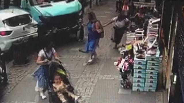 Facianın eşiğinden dönülen Ümraniye'deki kaza güvenlik kamerasında