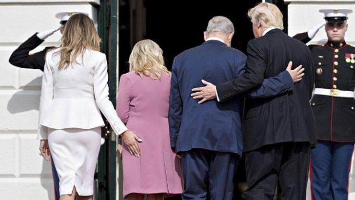 Melania Trump'tan Sara Netanyahu'ya sıcak karşılama