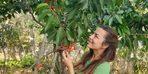 Kendini organik tarıma verdi! İlk hasatları
