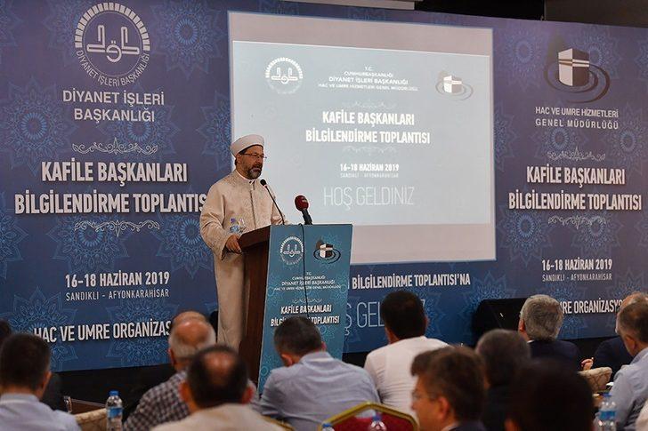 Diyanet İşleri Başkanı Prof. Dr. Ali Erbaş'ın sorumluluk uyarısı